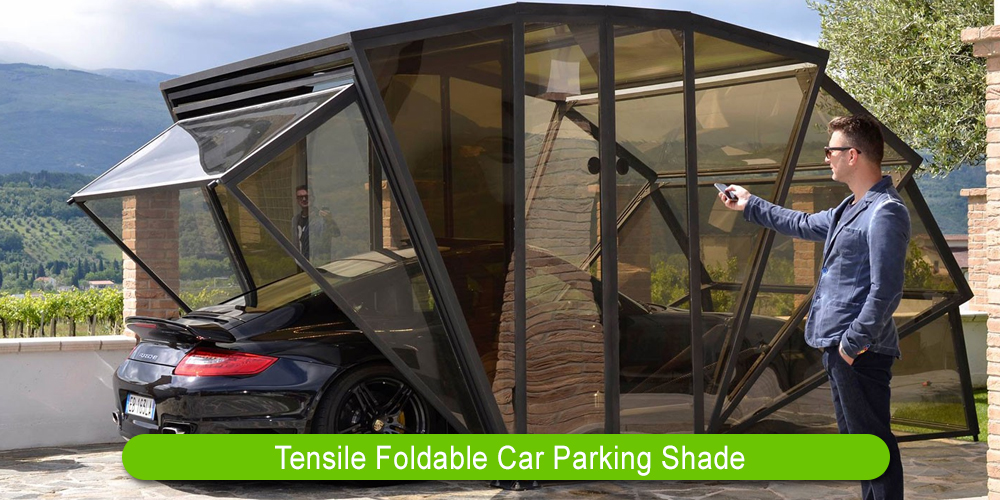 Tensile Foldable Car Parking Shade