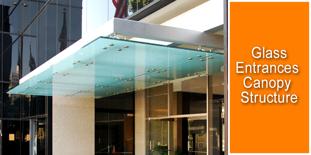 Glass Entrance Canopy Tensile Structure