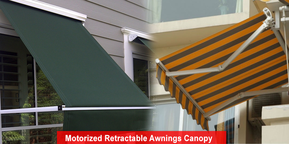 Motorized Retractable Awnings Canopy