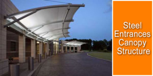 Steel Entrance Canopy Tensile Structure