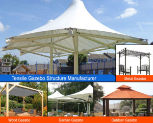 tensile gazebo structure manufacturer in Delhi and Noida